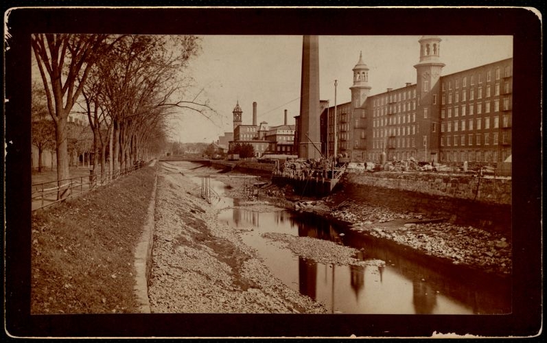 Pacific Coffer Dam. North canal. Lawrence, Mass. 1885