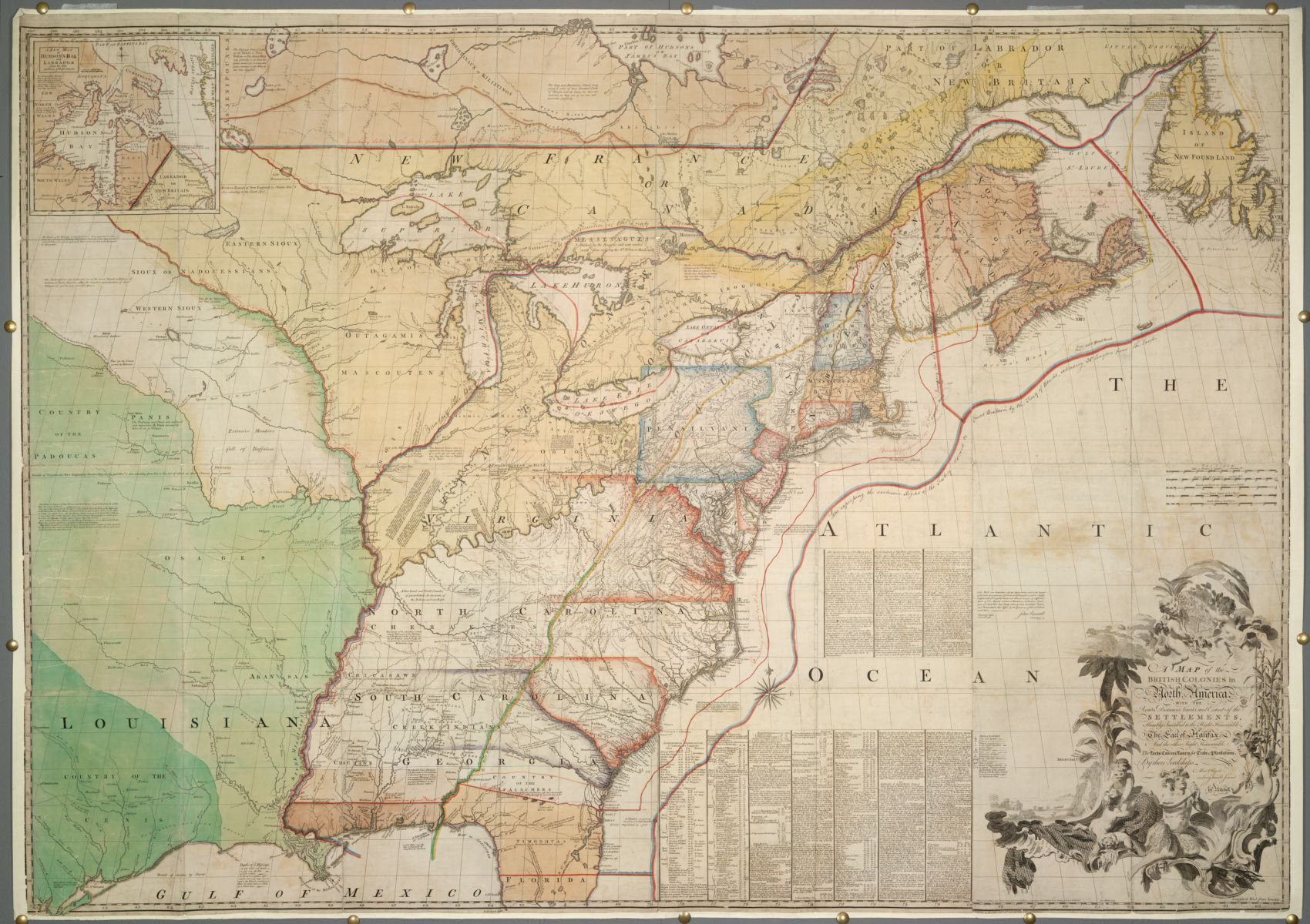"""John Mitchell's """"red lined map,"""" from the British Library collection"""