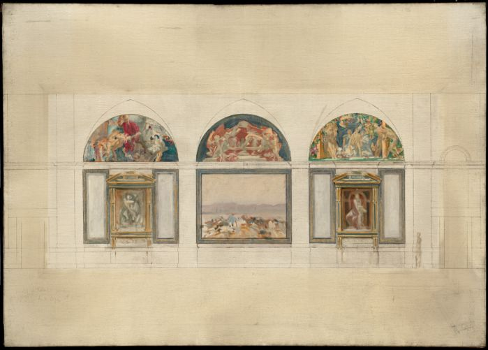 Original designs for the decoration at Boston Library