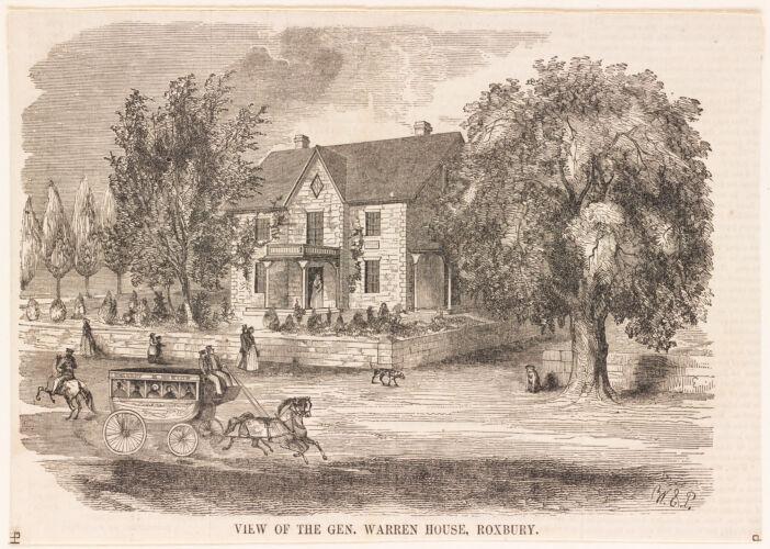 View of the Gen. Warren House, Roxbury