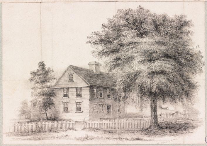 Boston, Massachusetts. House in Roxbury in which Gen. Joseph Warren was born. As it was in 1840