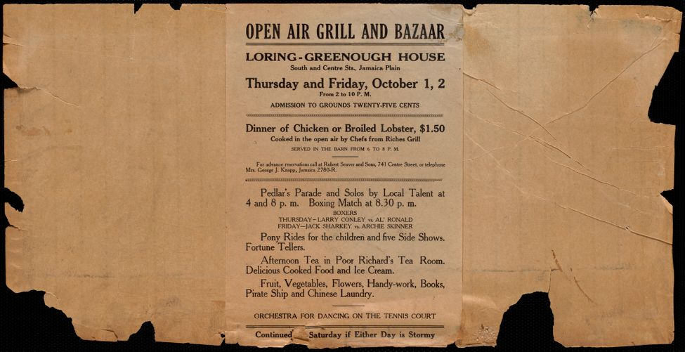 Open air grill and bazaar, Loring-Greenough House