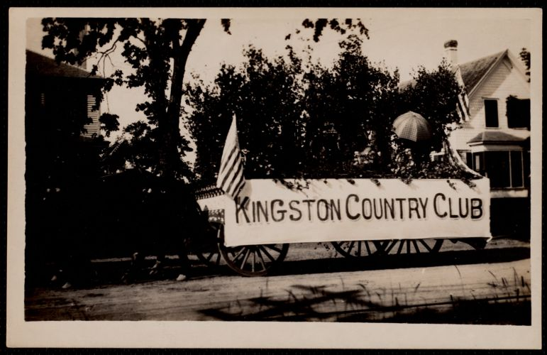 Kingston Country Club float in the Fourth of July parade