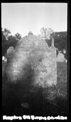 Elizabeth Bradford gravestone, Old Burying Ground