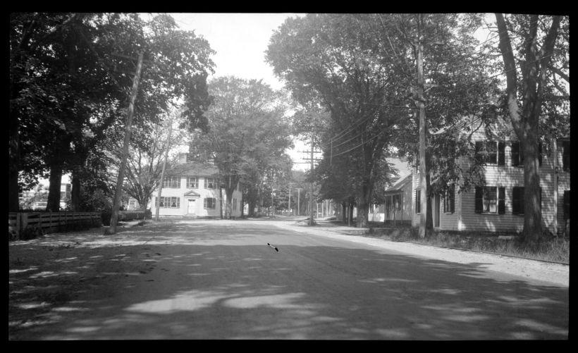 Joseph Holmes House, 232 Main Street (on left) and Captain Daniel Adams House, 225 Main Street