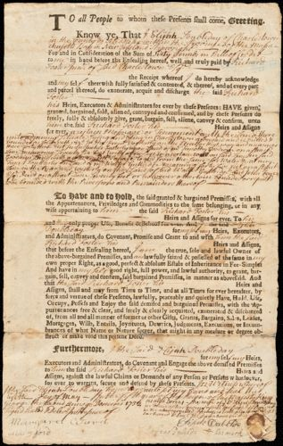 Hull, Isaac. Documents relating to properties held by Isaac Hull in Charlestown, 1732-1838