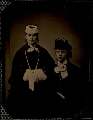 Alice E. Haley with unidentified woman