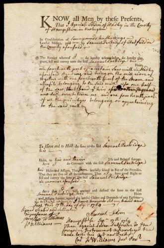 Deed, Azariah Selden to Samuel Partridge, 1764