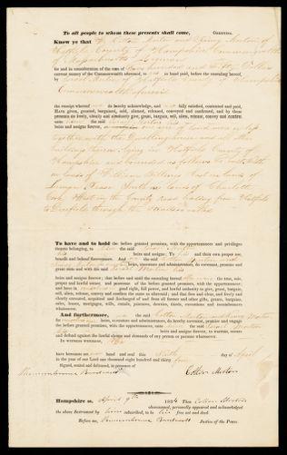 Deed, Cotton and Nancy Morton to Israel Morton, 1834