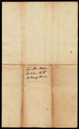 Quitclaim deed, Jonathan Morton to Perez Morton, 1807