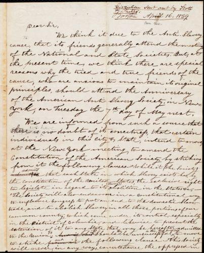 Draft of circular letter from Orange Scott, [Boston], [April 16, 1839]
