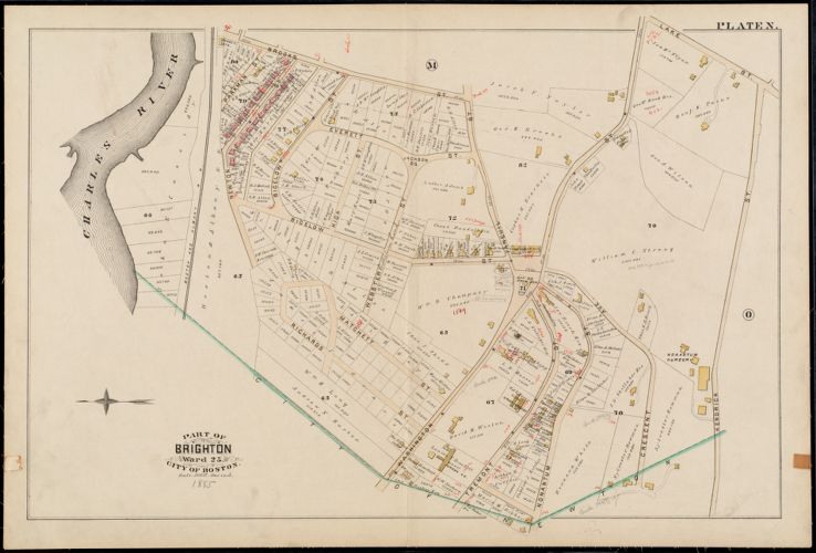 Atlas of the city of Boston : Charlestown and Brighton