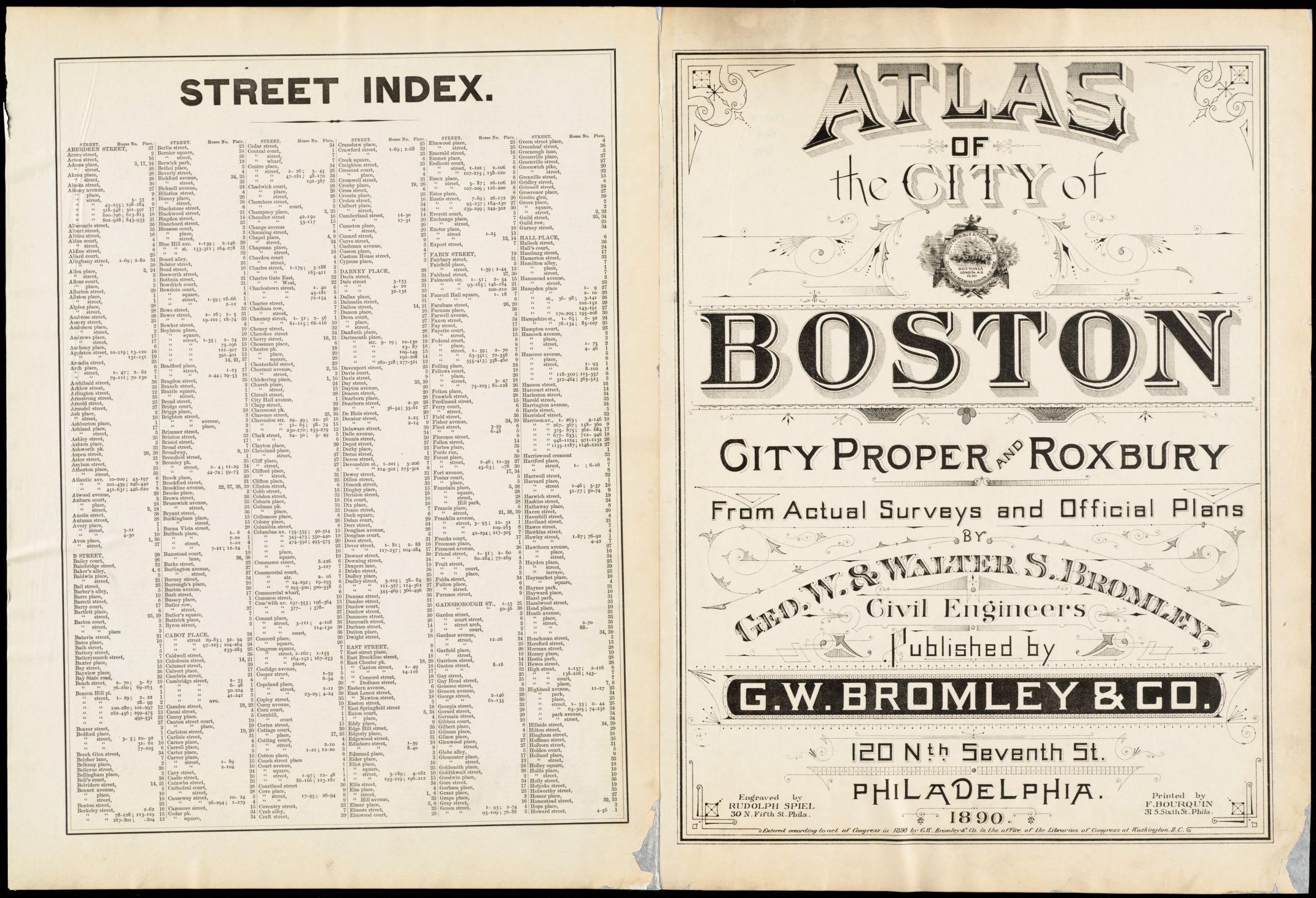 Atlas of the city of Boston : city proper and Roxbury