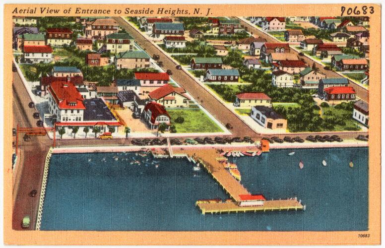 Aerial view of entrance to Seaside Heights, N. J.