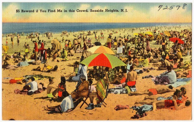 $5 reward if you find me in this crowd, Seaside Heights, N. J.