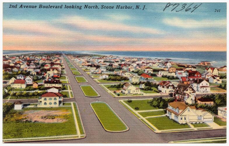 2nd Avenue Boulevard looking north, Stone Harbor, N. J.