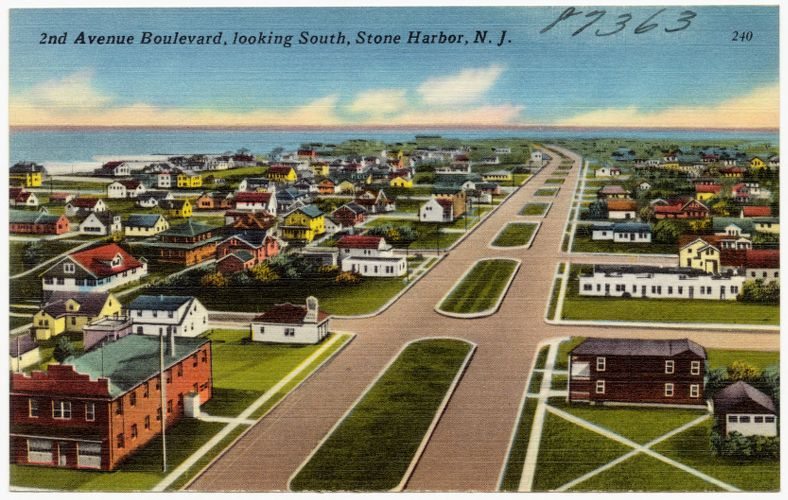 2nd Avenue Boulevard, looking south, Stone Harbor, N. J.