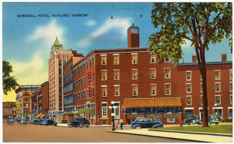 Bardwell Hotel Rutland, Vt.