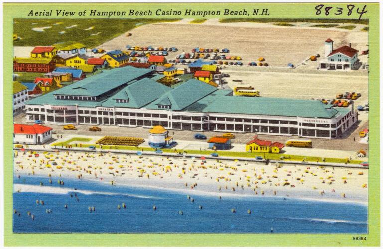 Aerial view of Hampton Beach Casino, Hampton Beach, N.H.