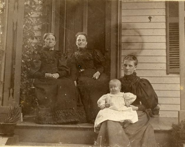 Four generations of Olds Cook Monroe family Southbridge Massachusetts