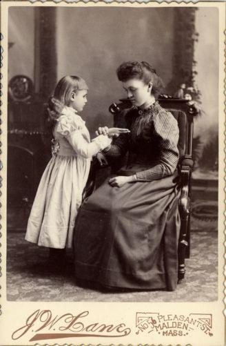 Willie Elizabeth and Miss Thayer