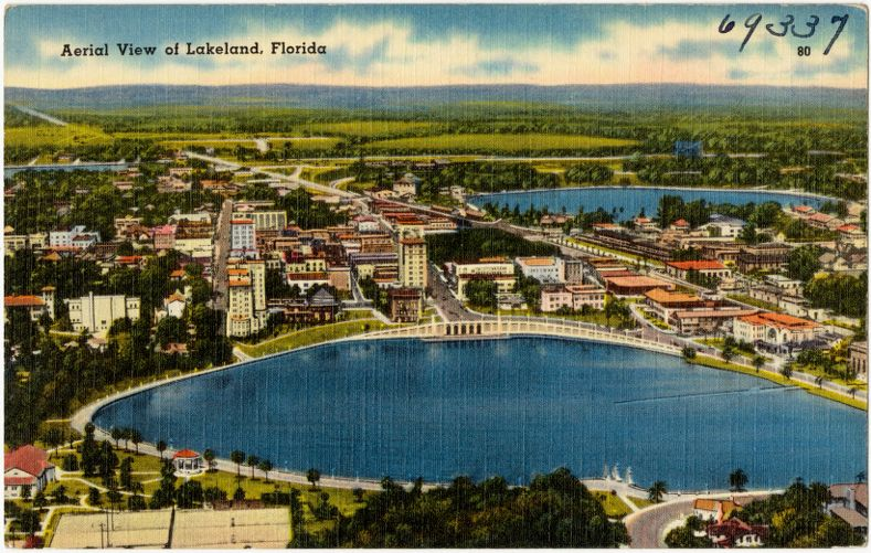 Aerial view of Lakeland, Florida
