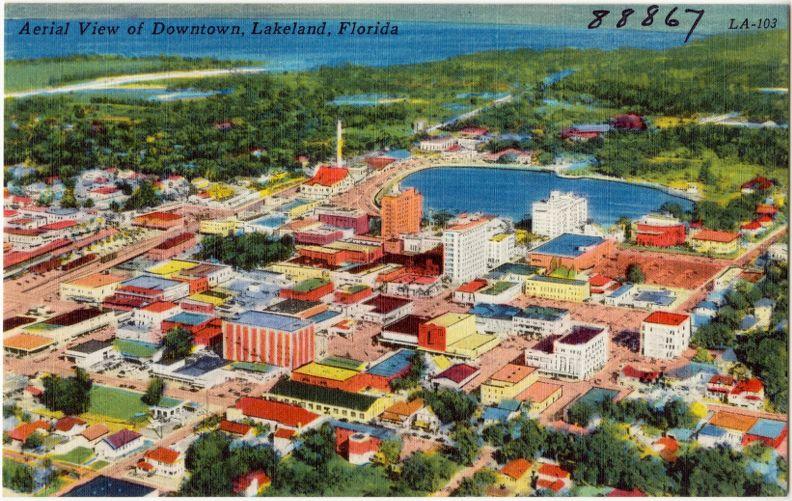 Aerial view of downtown, Lakeland, Florida