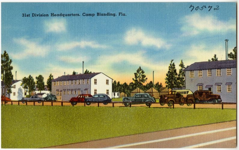 31st division headquarters, Camp Blanding, Fla.