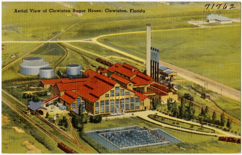 Aerial view of Clewiston Sugar House, Clewiston, Florida