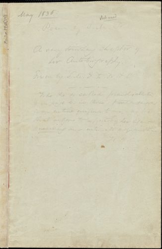 Margaret Fuller manuscript poem, 23 May 1836