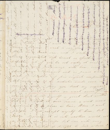 Margaret Fuller autograph letter signed to W.H. Channing, Jamaica Plain., 22 March 1840