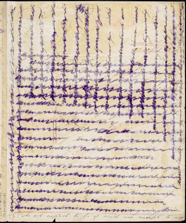 Margaret Fuller autograph letter signed to W.H. Channing, Jamaica Plain, 19 April 1840