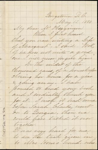 Caroline Wells Healey Dall autograph letter signed to Thomas Wentworth Higginson, Georgetown, D.C., 19 June 1884