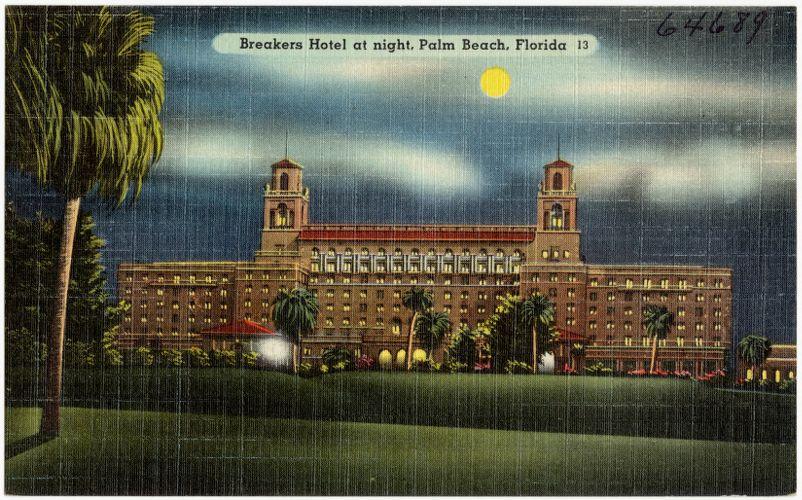 Breakers Hotel at night, Palm Beach, Florida