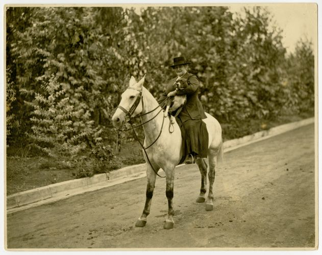 Annie Sullivan Riding a Horse in Hollywood