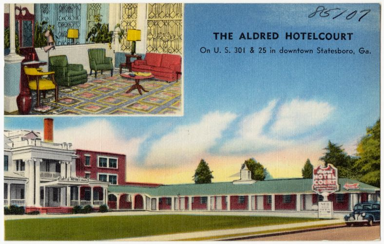 The Aldred Hotelcourt, on U.S. 301 & 25 in downtown Statesboro, Ga.