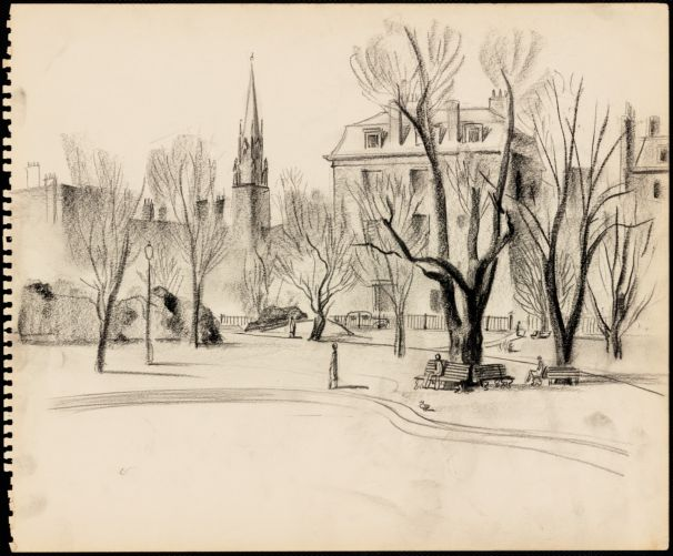 Sketch of Boston Public Garden