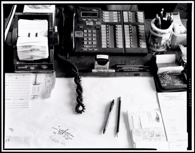 Al Hook's work desk