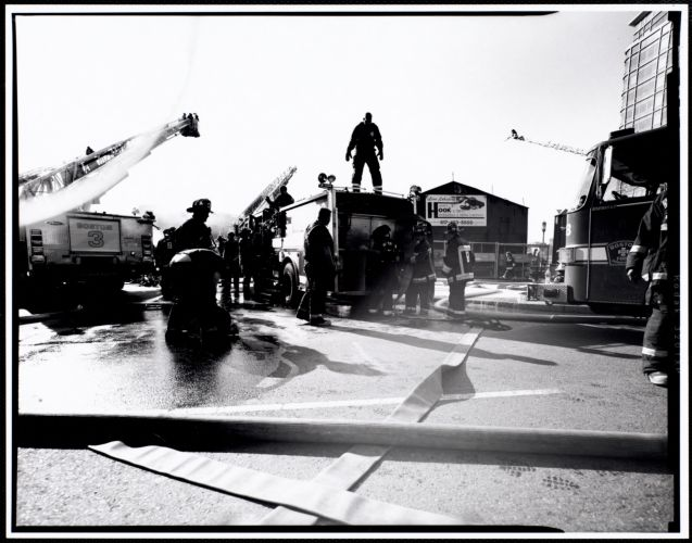 Firefighters responding to scene