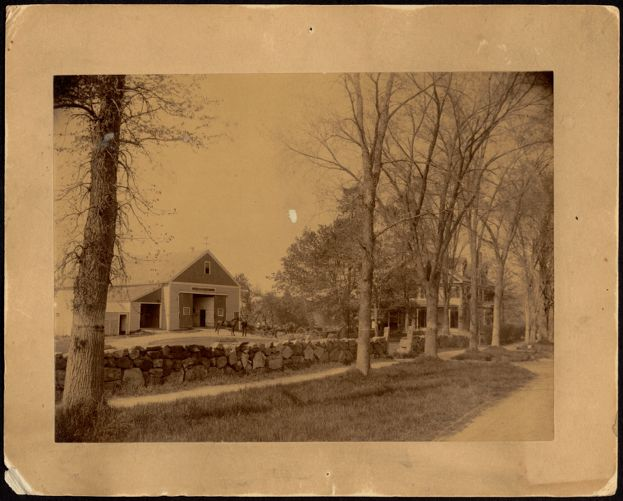 Ashdale Farm, Side view of main house and barn.