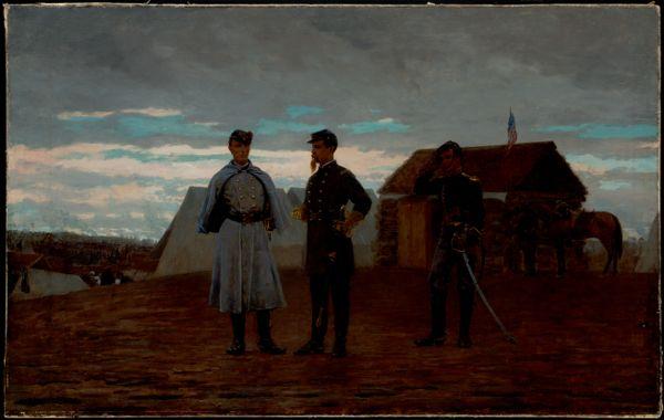 Captain W.F. Bartlett and Lieutenant-Colonel F.W. Palfrey at Camp Benton, MD, Nov. 1861