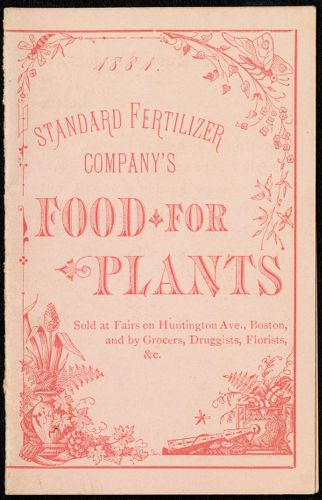 1884 - Standard Fertilizer Company's Food for Plants.