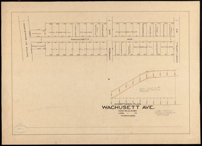 Acceptance plan, Wachusett Ave.
