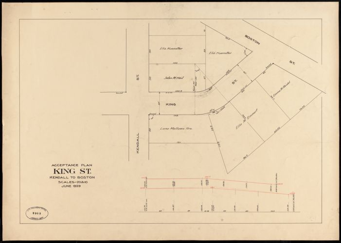 Acceptance plan, King St., Kendall to Boston