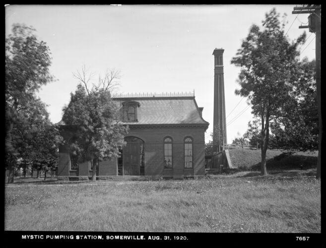 Distribution Department, Mystic Pumping Station, Somerville, Mass., Aug. 31, 1920