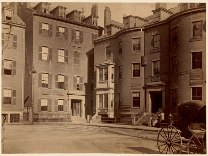 Police headquarters. Formerly residence of John Lowell, Pemberton Square