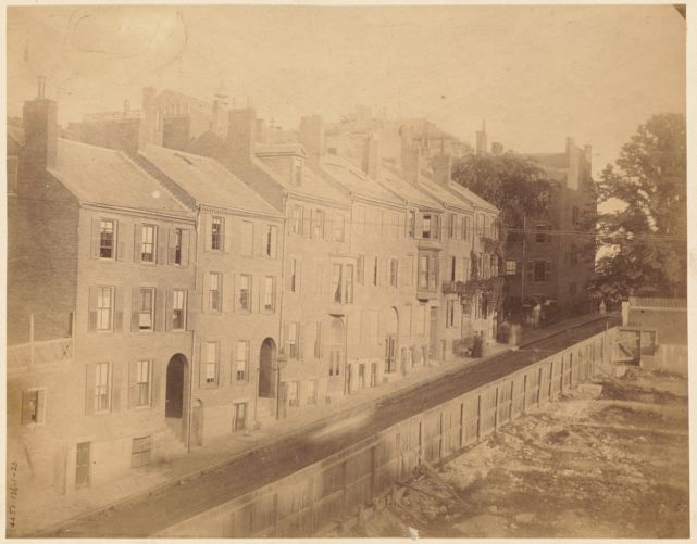 Temple St. from Derne to Mt. Vernon. 1886. Razed 1891-2