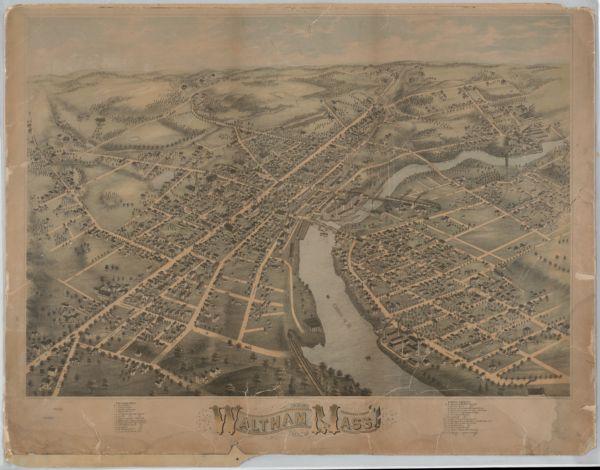 View of Waltham, Mass. 1873