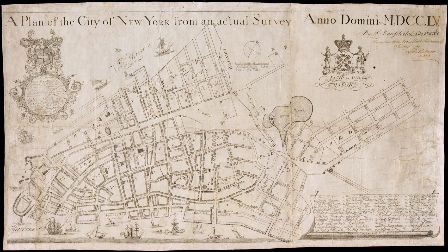 A plan of the City of New York from an actual survey anno domini MDCCLV