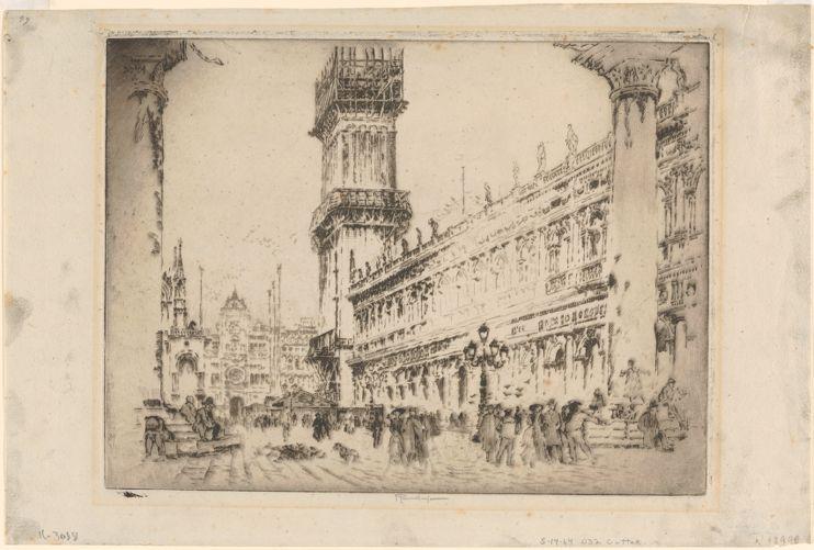 Rebuilding the Campanile, no. II, Venice